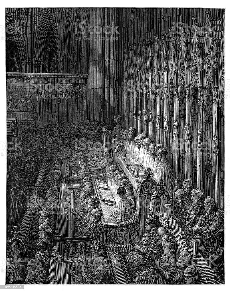 Victorian London - The Choir royalty-free stock vector art