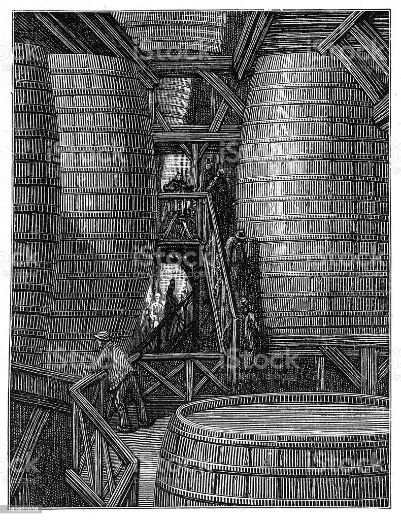 Victorian London - The Great Vats royalty-free stock vector art
