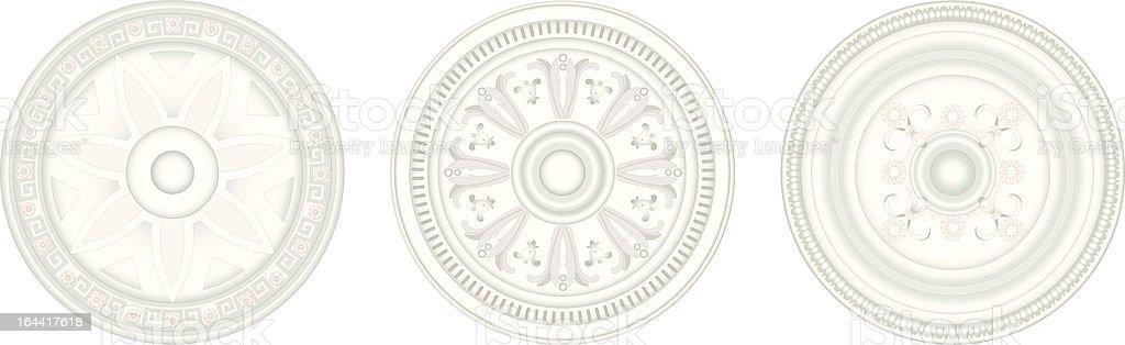 Victorian Rose Windows royalty-free stock vector art