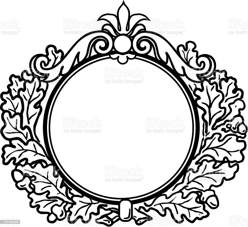 Victorian Style Round Frame stock vector art 164182558 ...