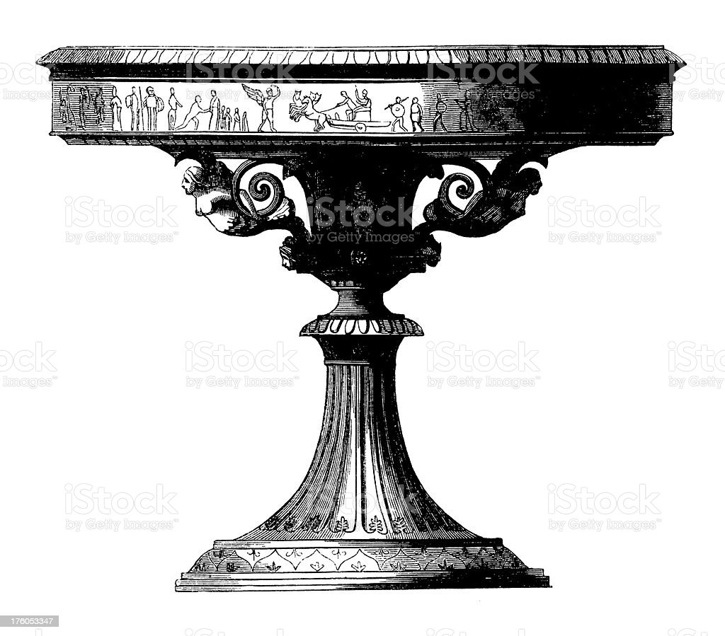 Victorian Table | Antique Design Illustrations royalty-free stock vector art