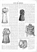 Victorian text, illustrations and tips for fashions for 1893