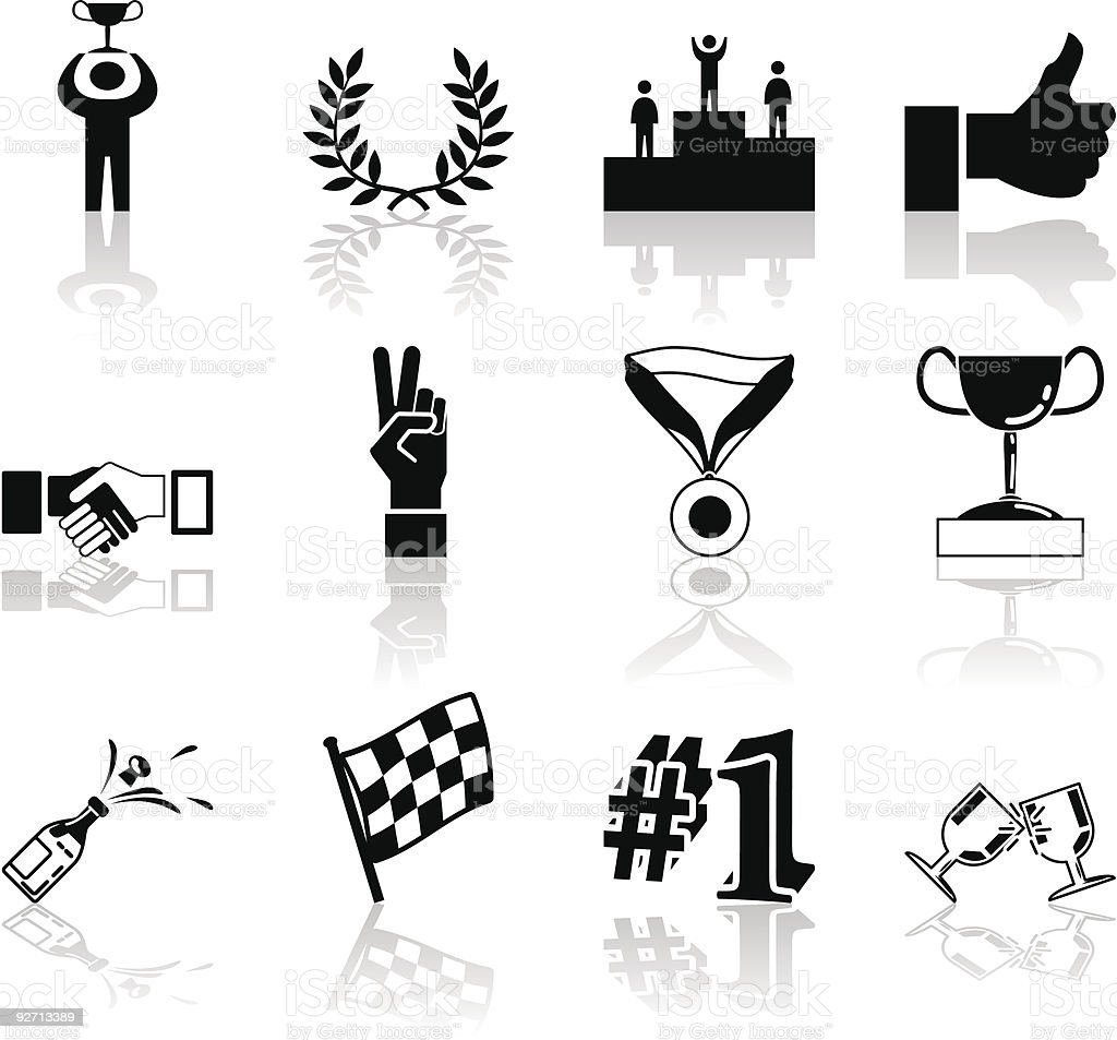 Victory and Success Icon Set Series Design Elements royalty-free stock vector art