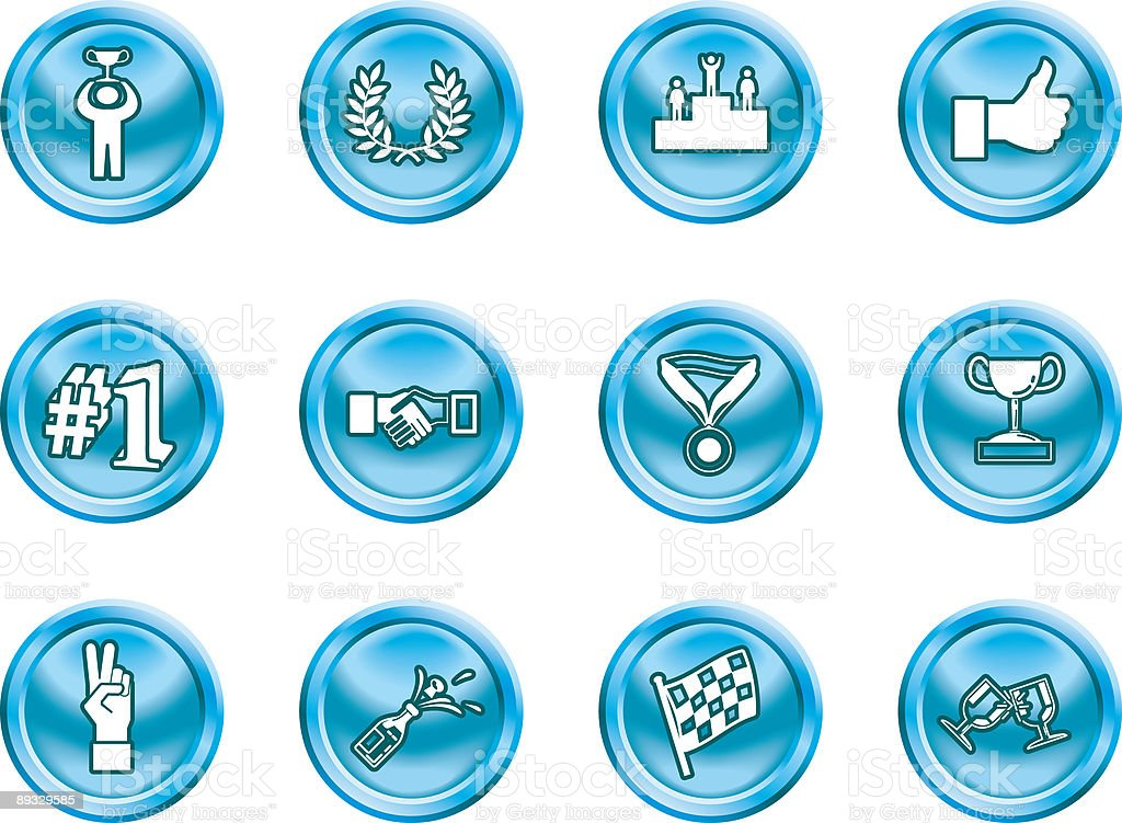 Victory Icons royalty-free stock vector art