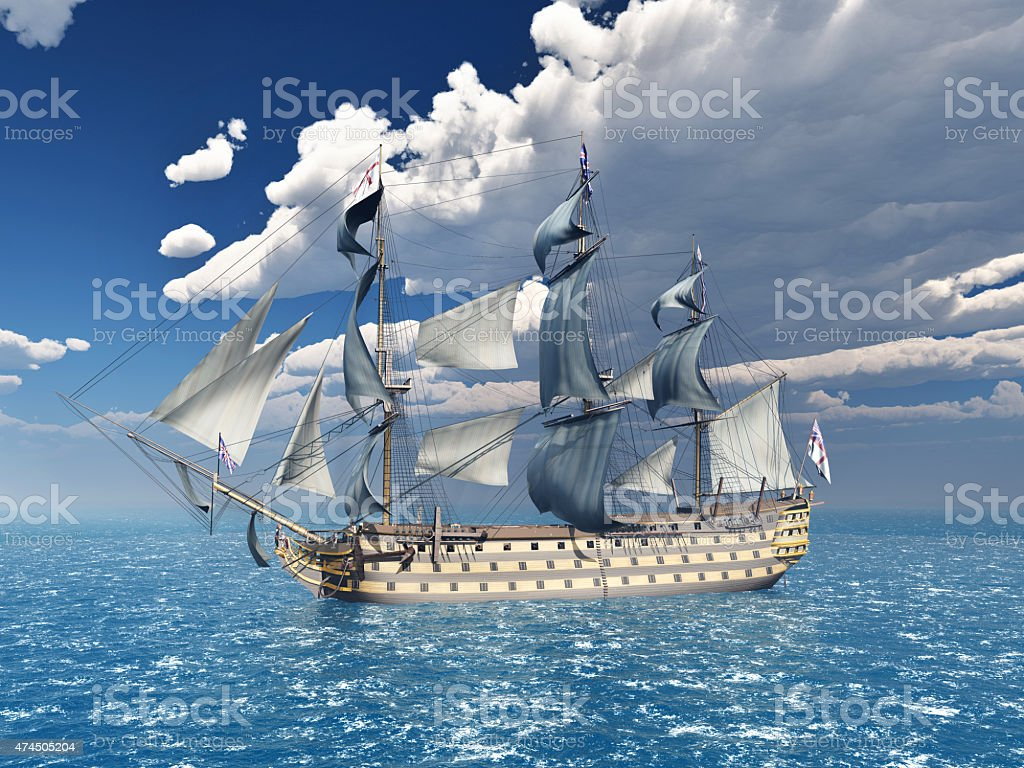 HMS Victory vector art illustration