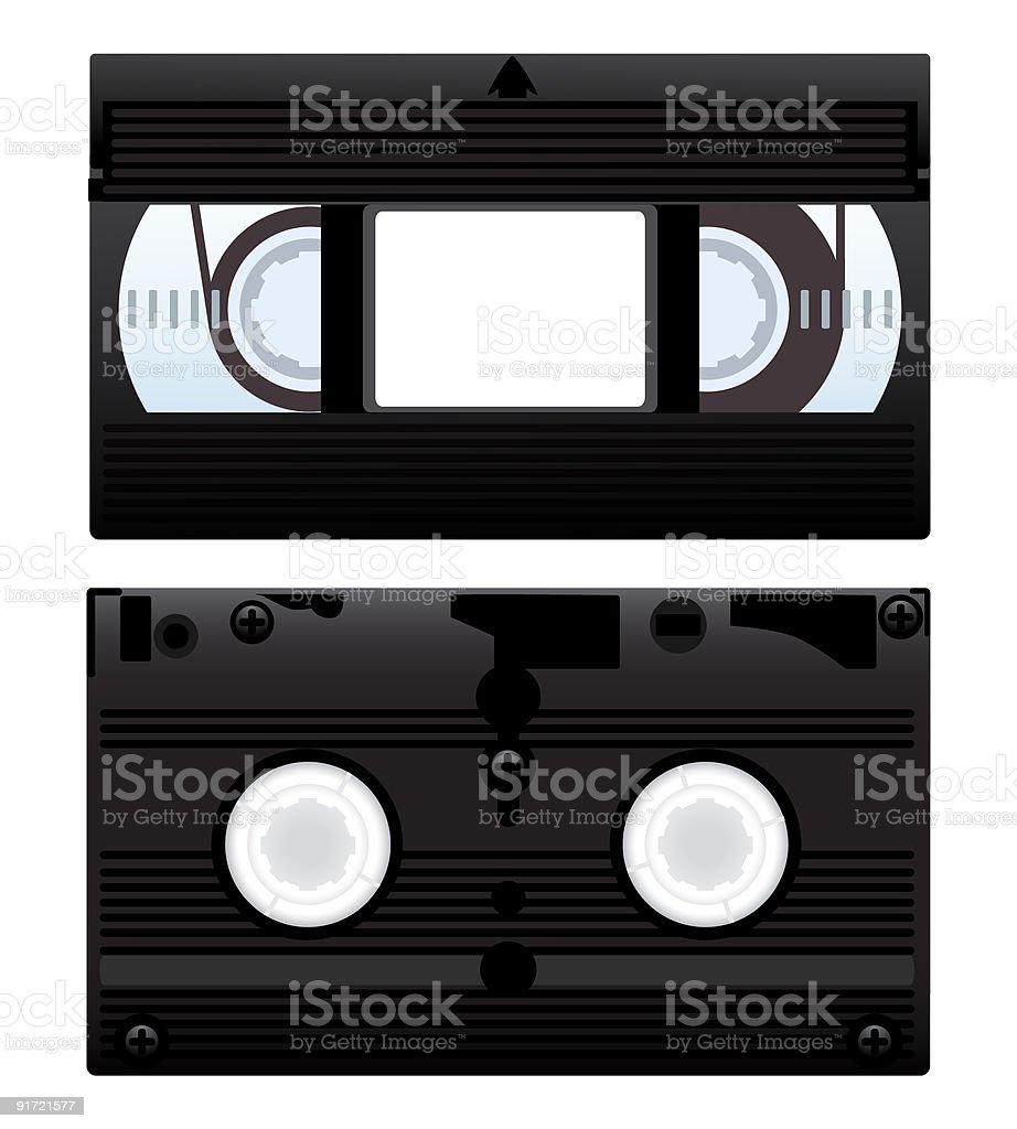 Video cassette royalty-free stock vector art