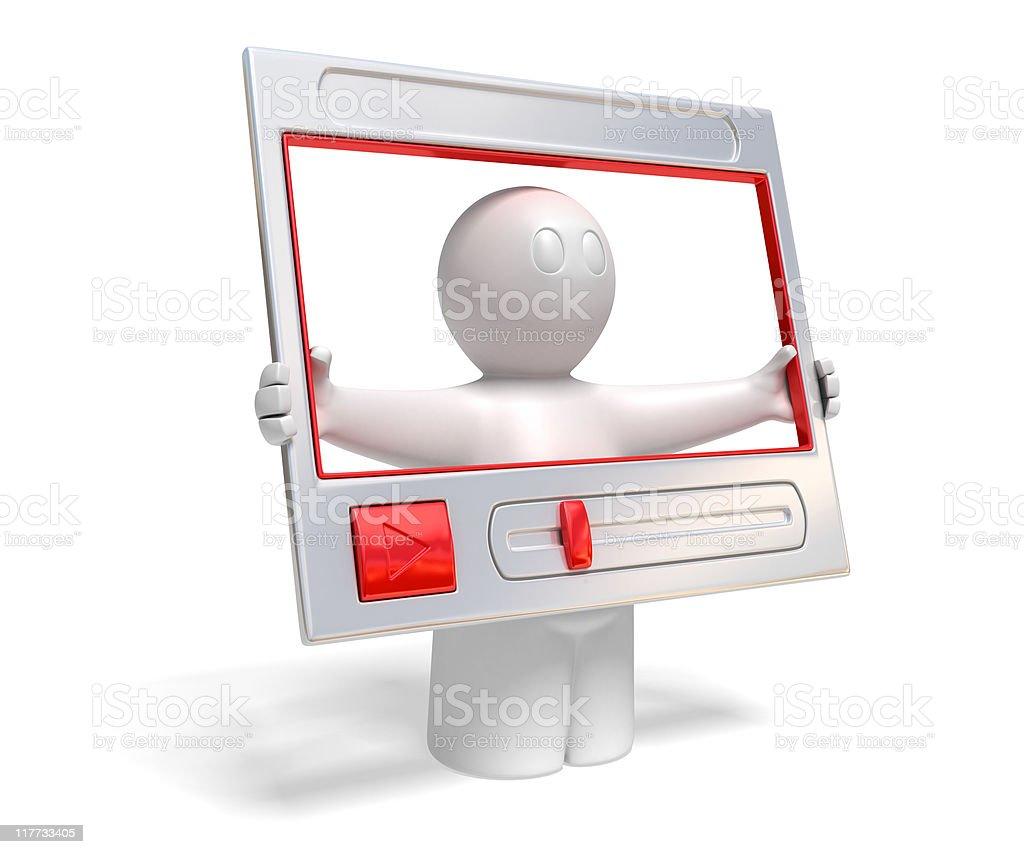 video presentation vector art illustration