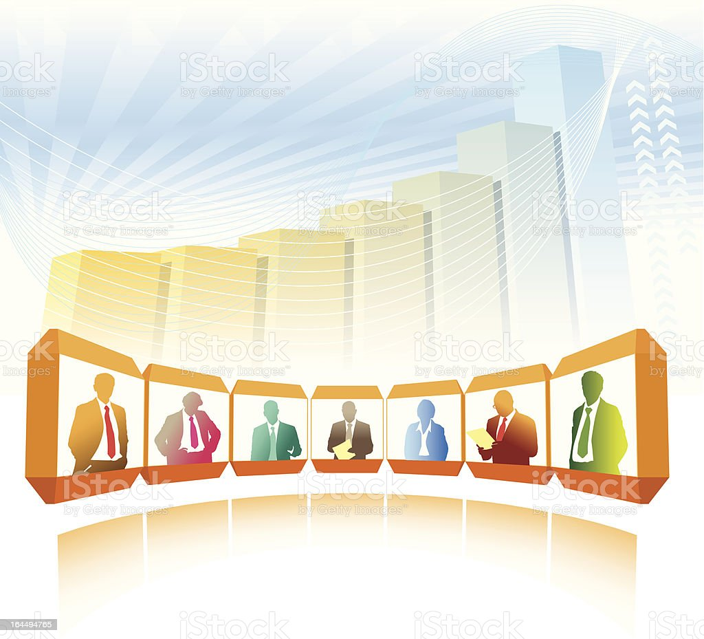 Videoconference royalty-free stock vector art