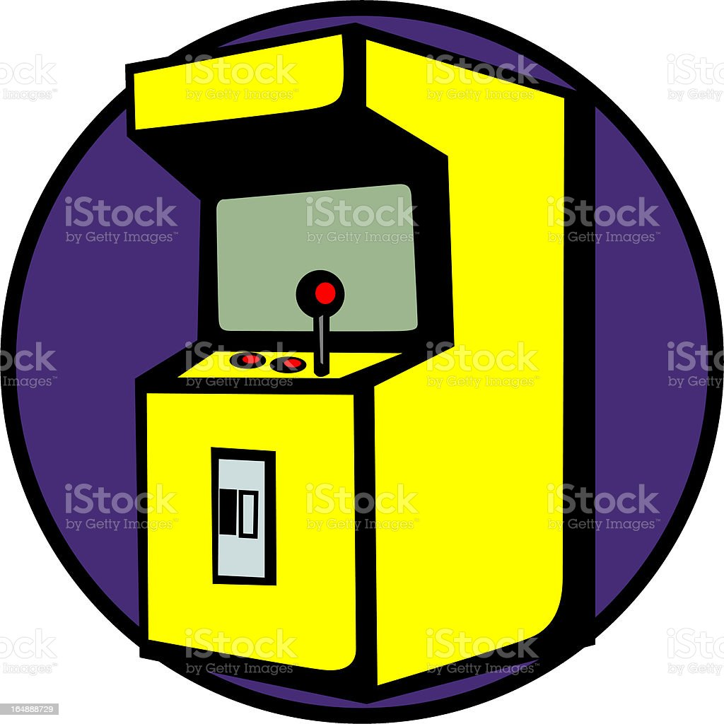 videogame arcade machine royalty-free stock vector art
