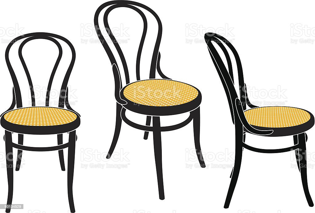 vienna cafe chair royalty-free stock vector art