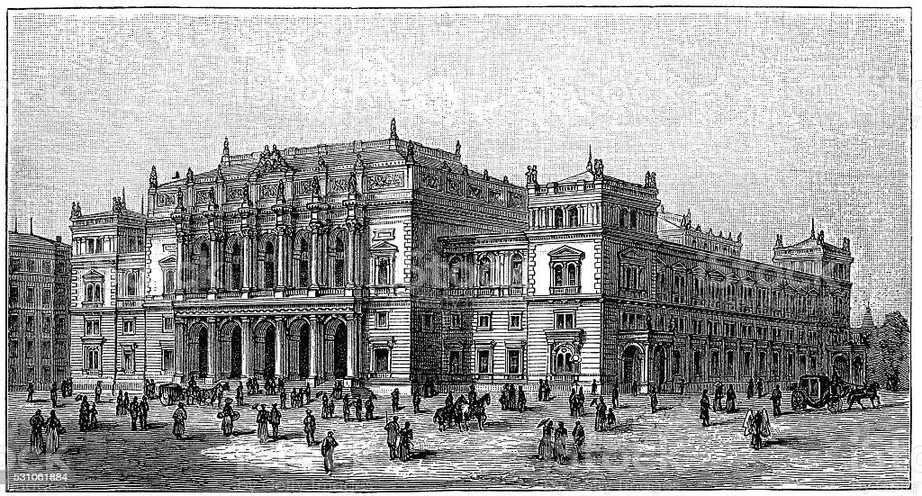 Vienna Stock Exchange vector art illustration