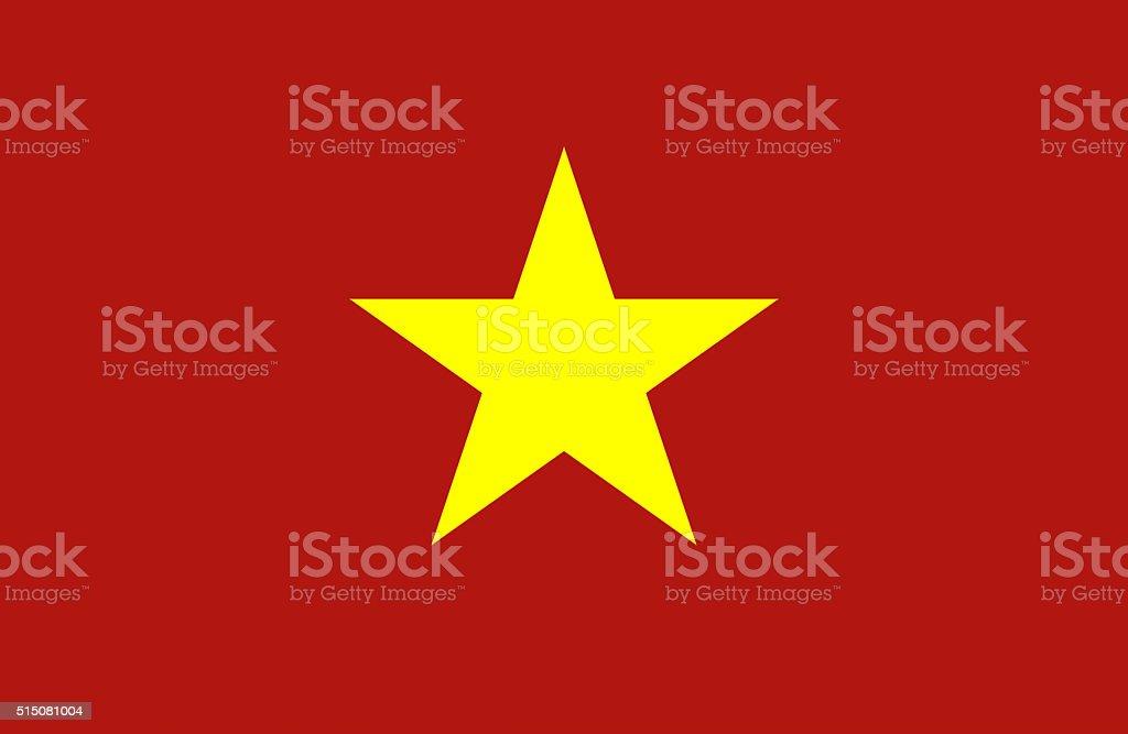 Vietnam flag vector art illustration
