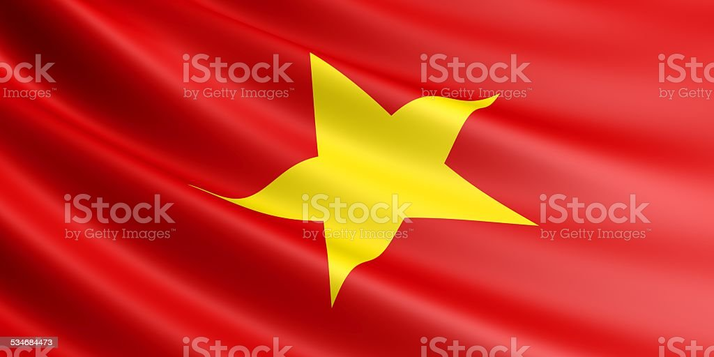 Vietnamese flag. royalty-free stock vector art