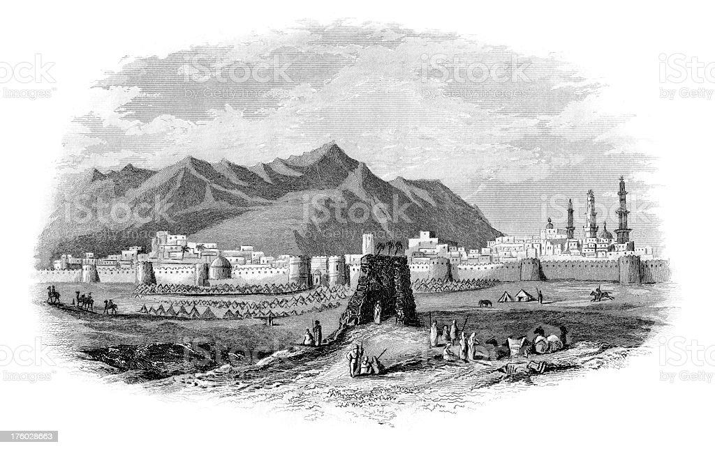 View of Al Madinah royalty-free stock vector art