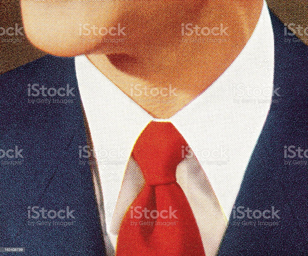 View of Man's Neck royalty-free stock vector art