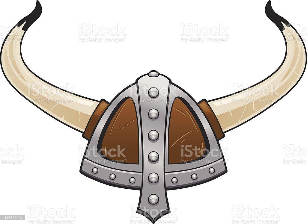 Viking Helmet vector art illustration