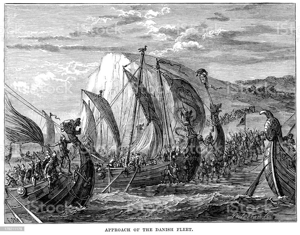 Viking Invasion vector art illustration