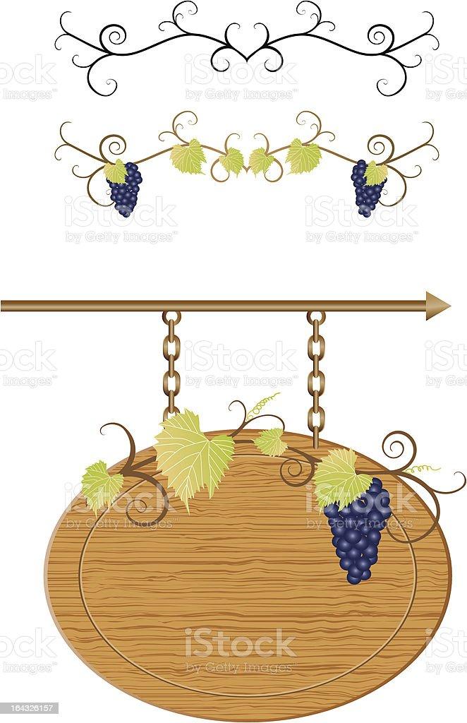Vine decoration royalty-free stock vector art