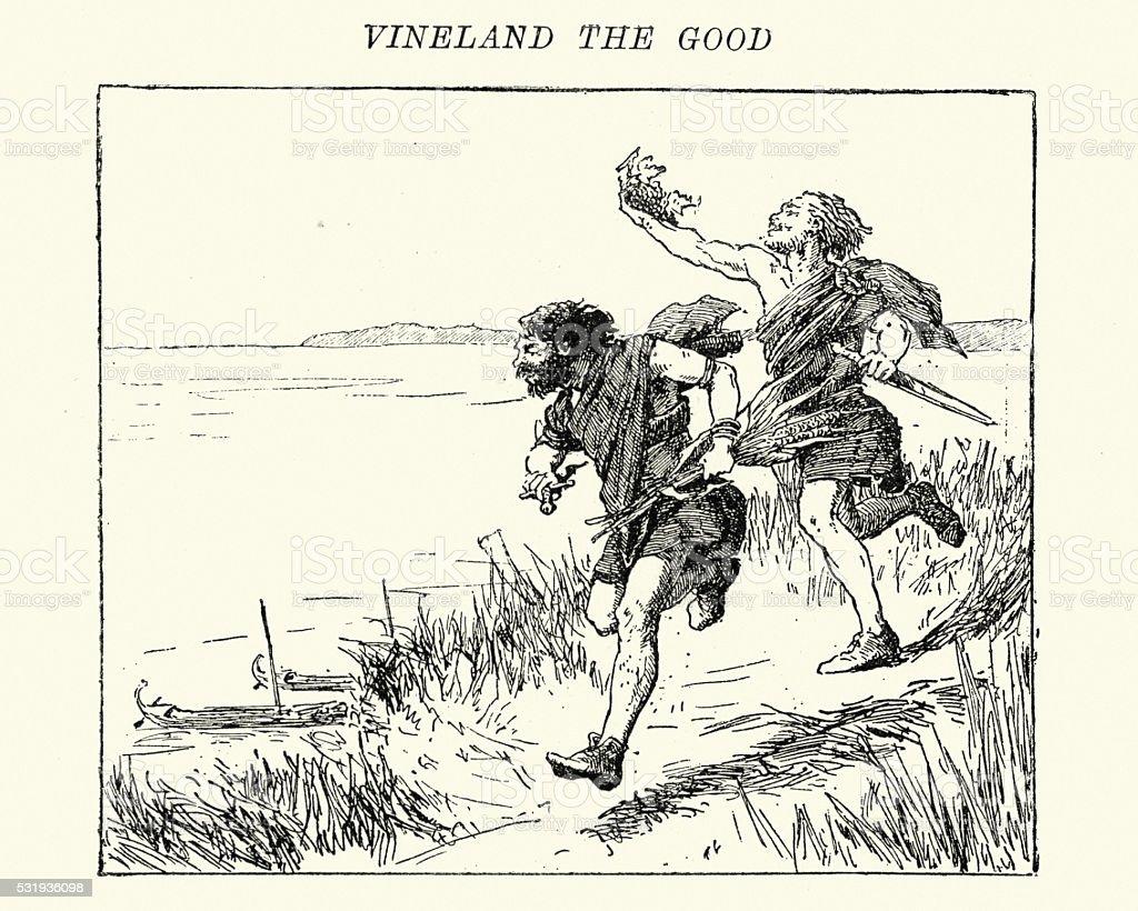 Vinland the Good vector art illustration