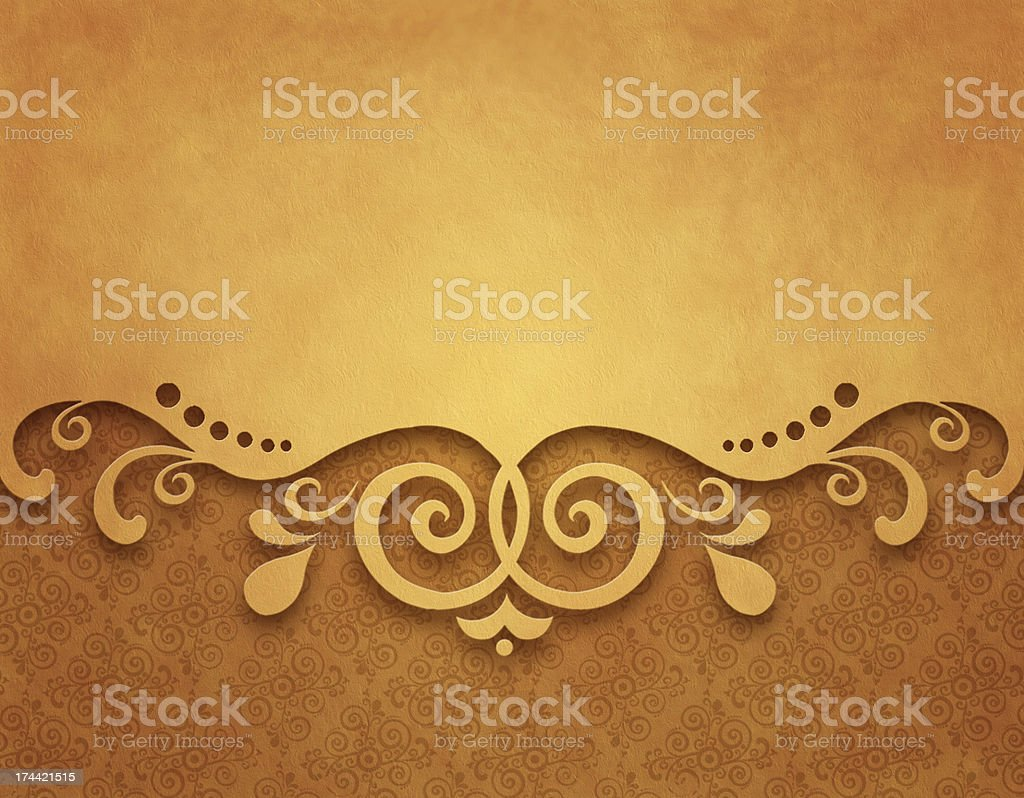 Vintage background with floral ornaments royalty-free stock vector art