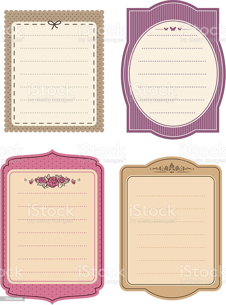 Vintage background with flowers. Vector royalty-free stock vector art