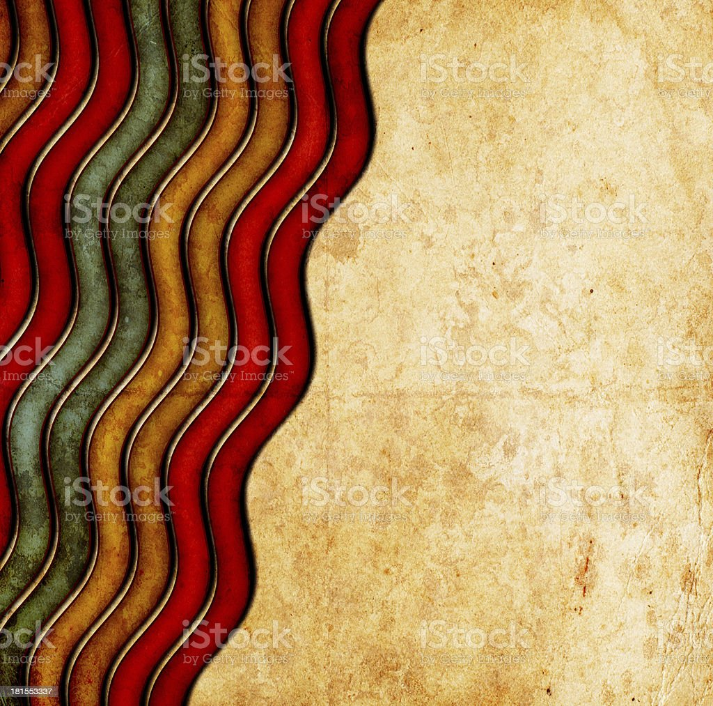 vintage background with stripes ans stains royalty-free stock vector art