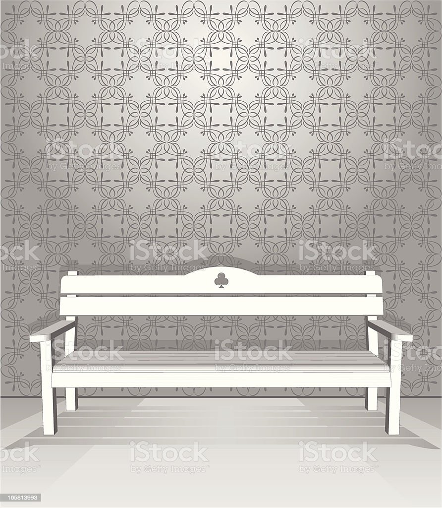 Vintage bench royalty-free stock vector art