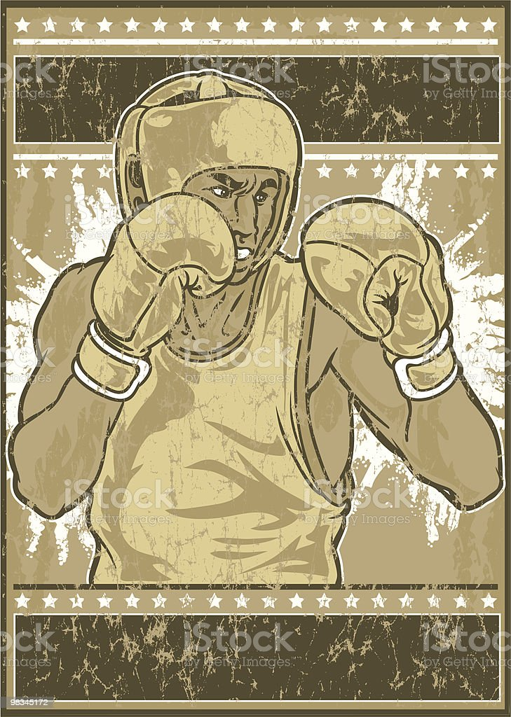 Vintage boxer royalty-free stock vector art
