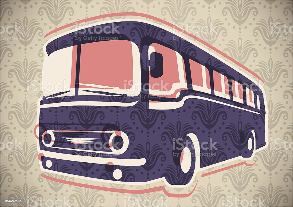 Vintage bus illustration. vector art illustration