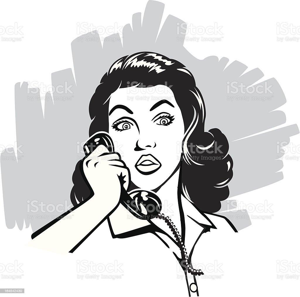 Vintage calling vector art illustration