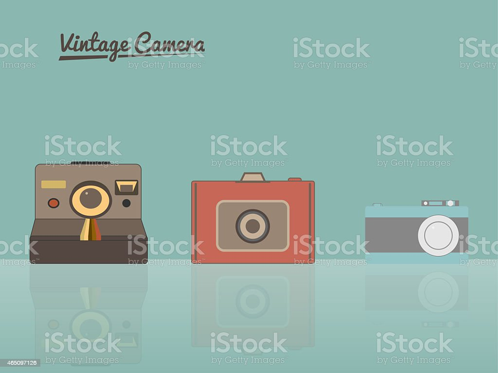 Vintage Cameras illustration vector art illustration