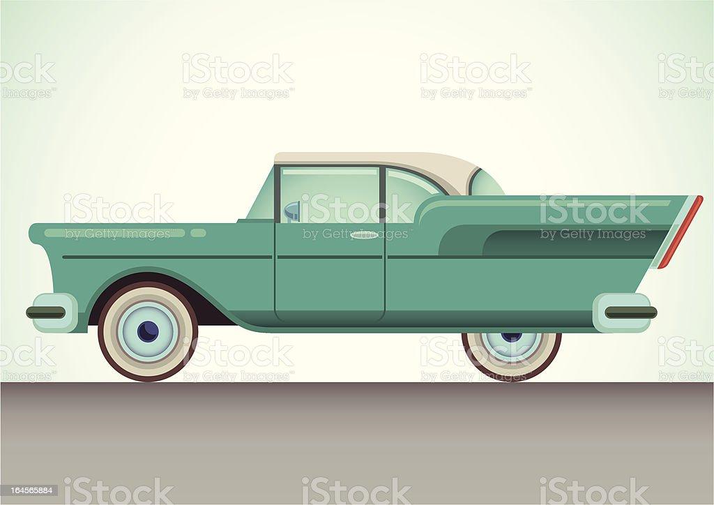 Vintage car. vector art illustration