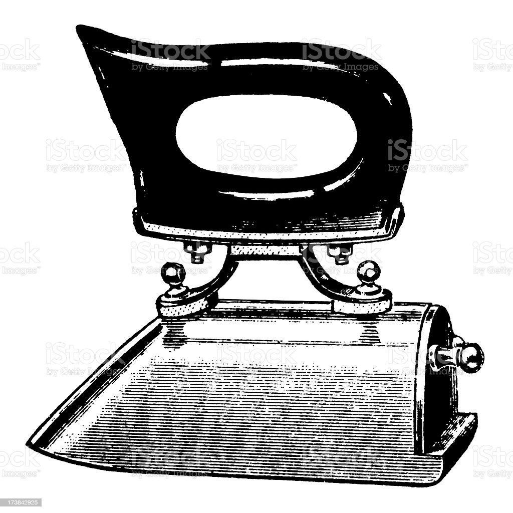 Vintage Clip Art and Illustrations | Antique Iron royalty-free stock vector art