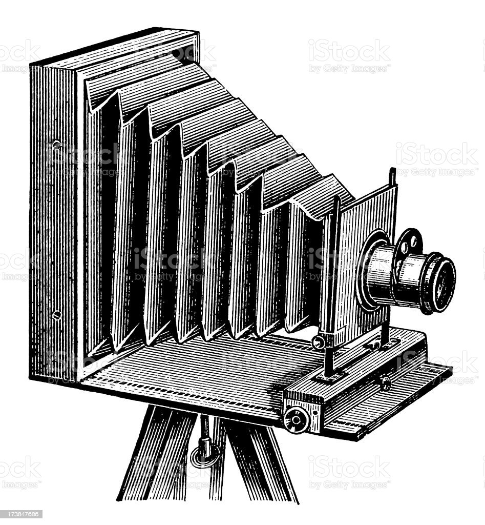 Vintage Clip Art and Illustrations   Antique Photo Camera royalty-free stock vector art