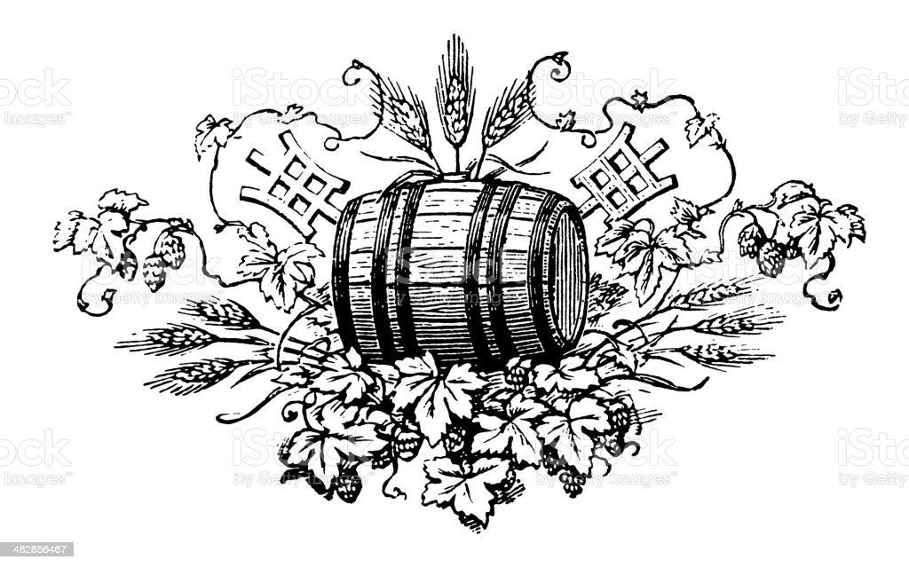Vintage Clip Art and Illustrations   Beer Label vector art illustration