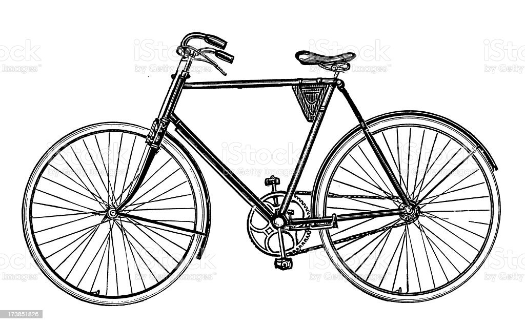 Bicycle illustration retro - photo#13