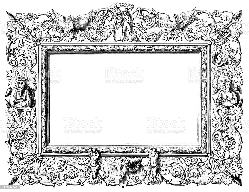 Vintage Clip Art And Illustrations I Decorative Frame stock vector ...
