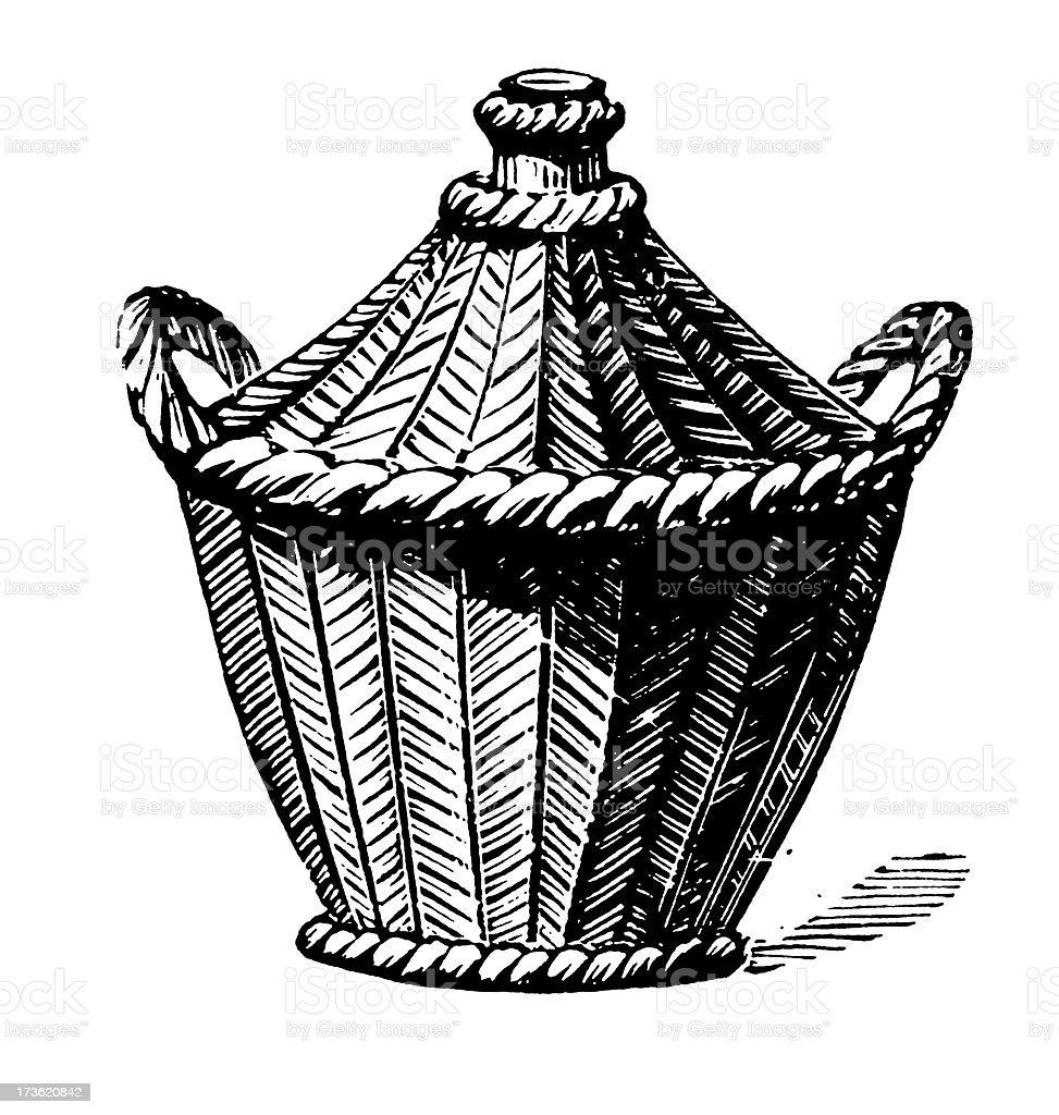 Vintage Clip Art and Illustrations I Demijohn royalty-free stock vector art