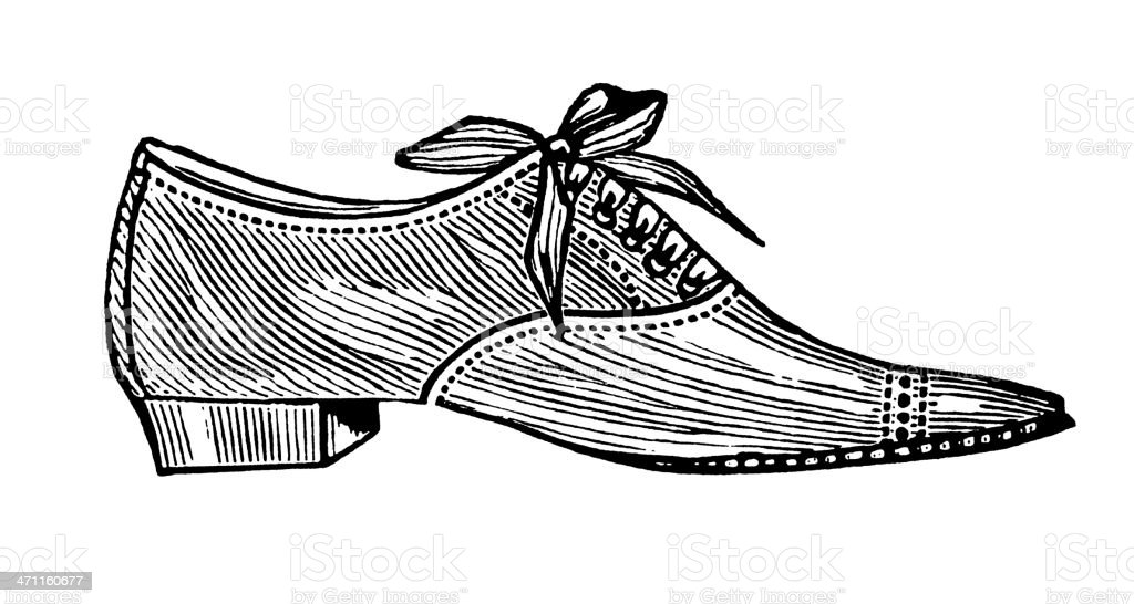 Vintage Clip Art and Illustrations I Male Shoe royalty-free stock vector art