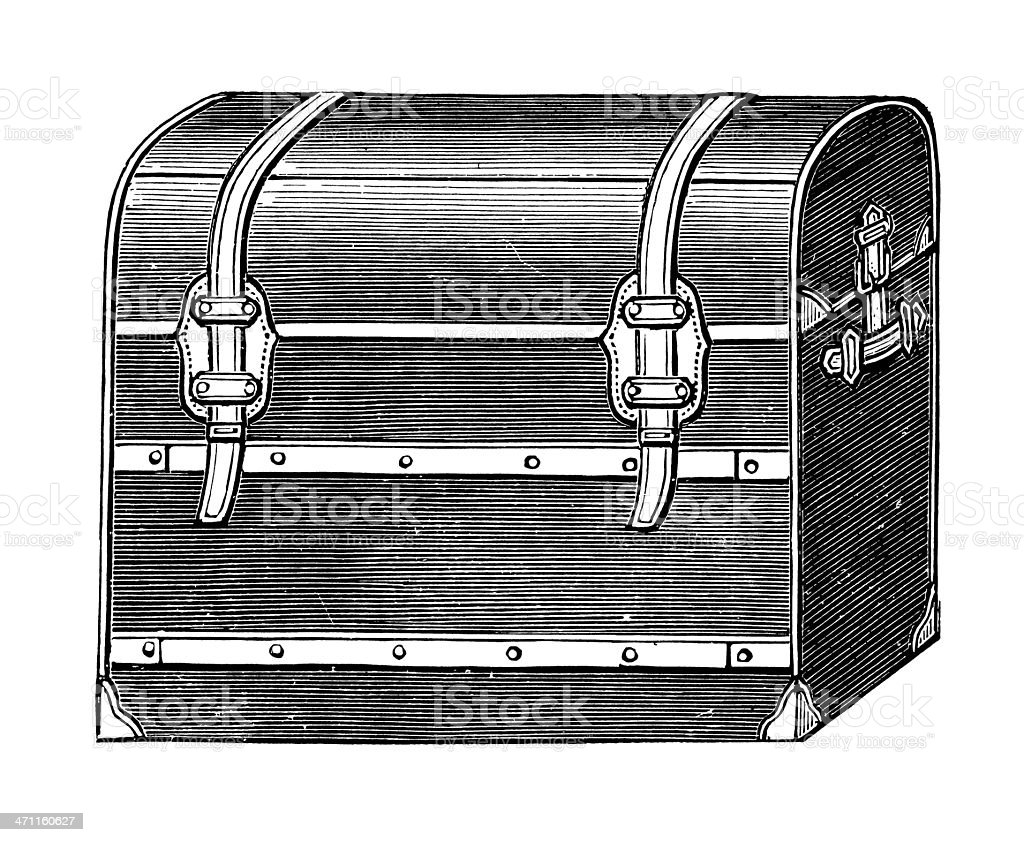 Vintage Clip Art and Illustrations I Travel Suitcase royalty-free stock vector art