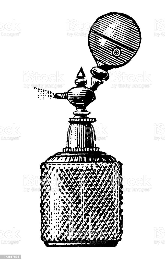 Vintage Clip Art and Illustrations | Perfume Bottle royalty-free stock vector art