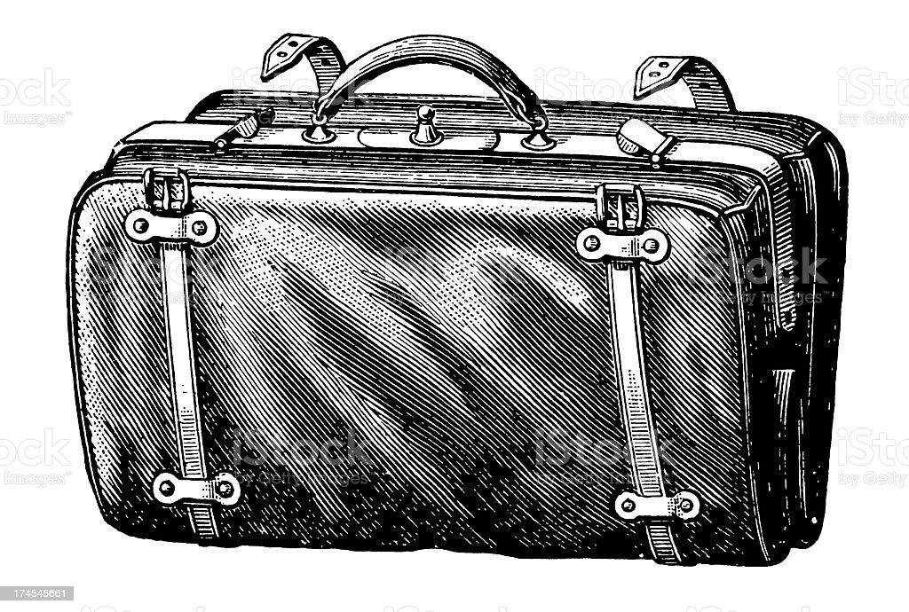 Vintage Clip Art and Illustrations   Suitcase royalty-free stock vector art