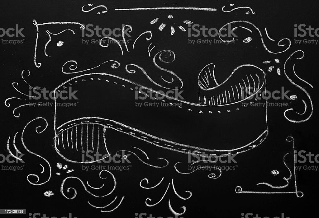 Vintage clipboard on Blackboard royalty-free stock vector art