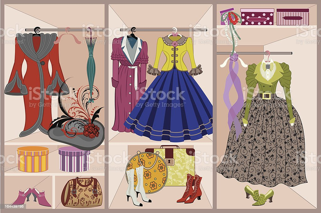 Vintage clothing royalty-free stock vector art