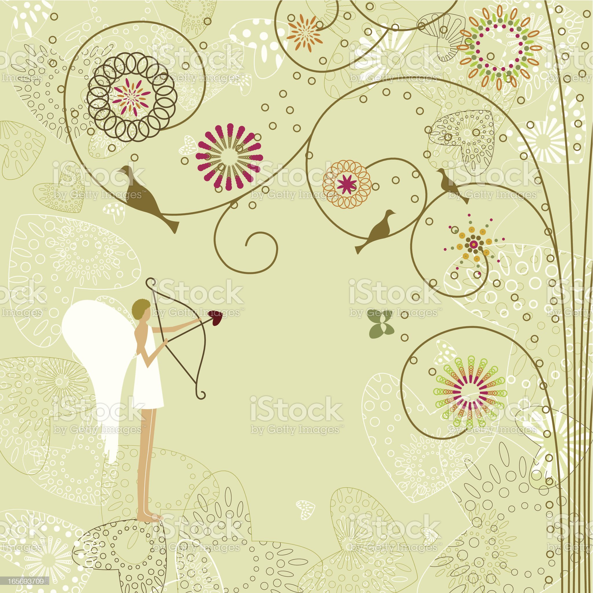 Vintage Cupid royalty-free stock vector art