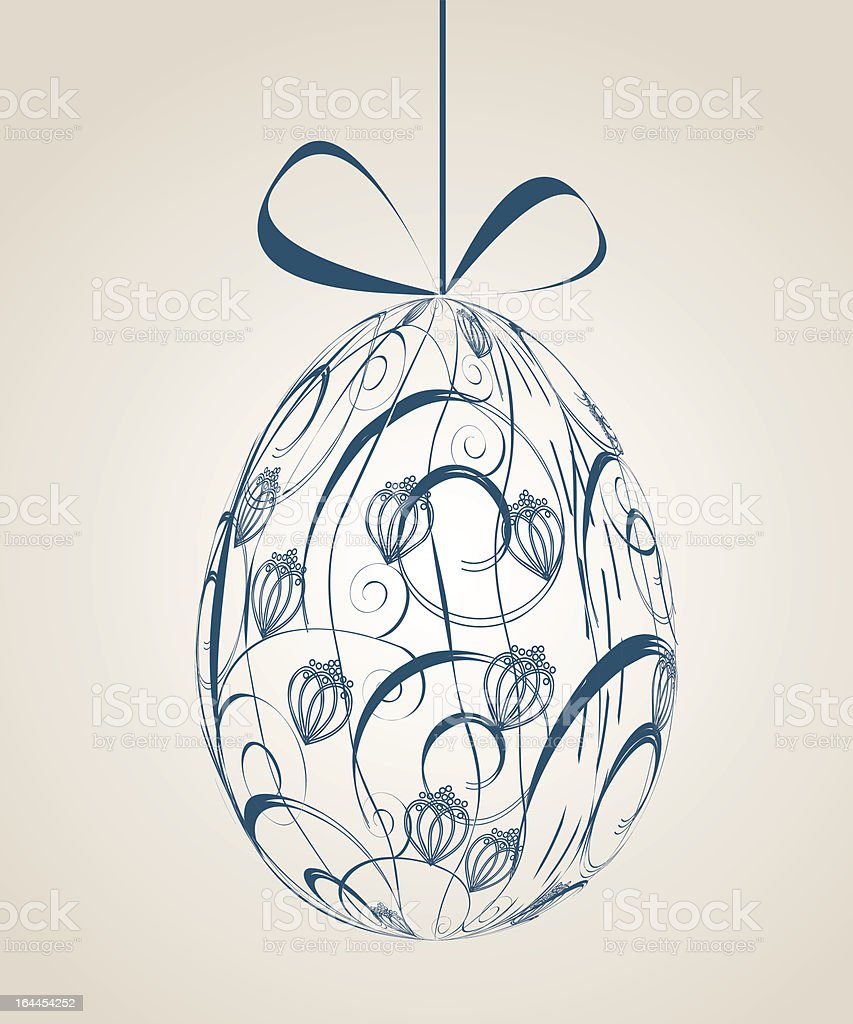 Vintage Easter greeting card royalty-free stock vector art
