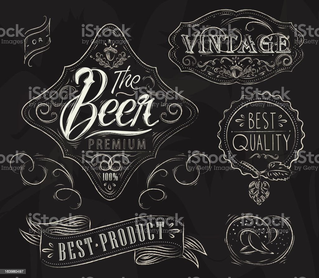 Vintage Elements for bar royalty-free stock vector art