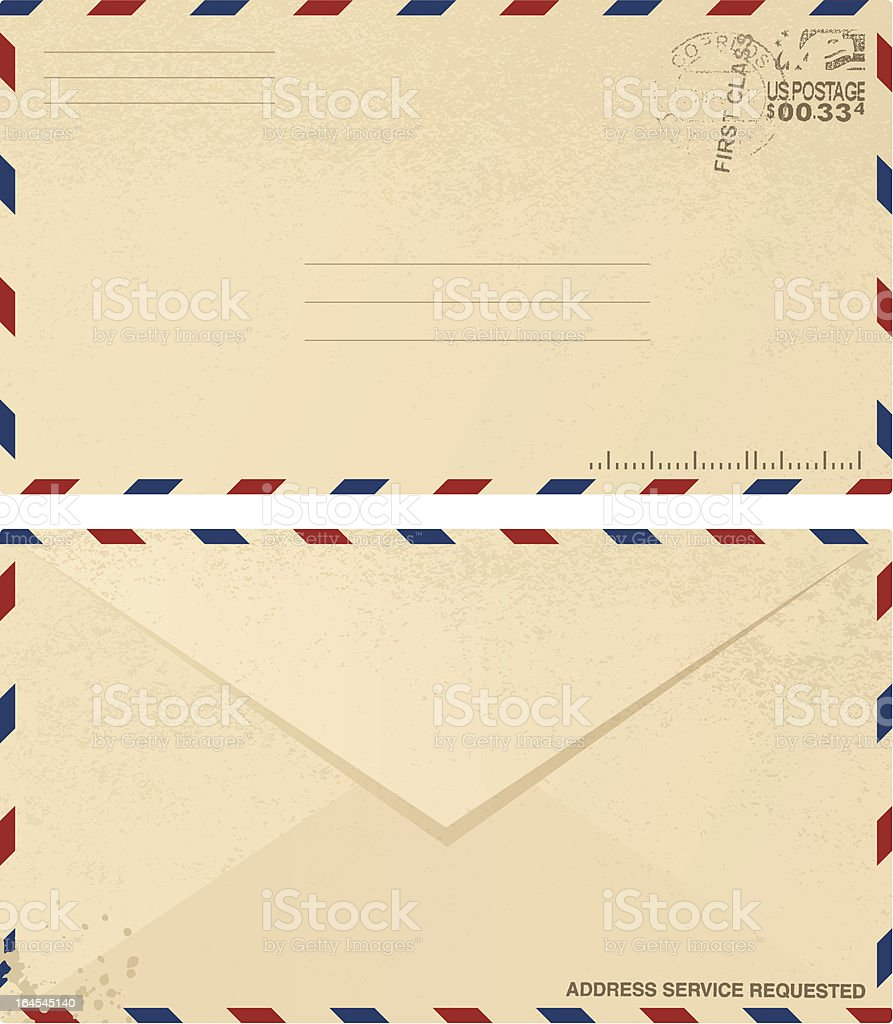 Vintage Envelope Design vector art illustration