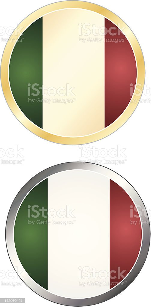Vintage Flag Series - Italy royalty-free stock vector art