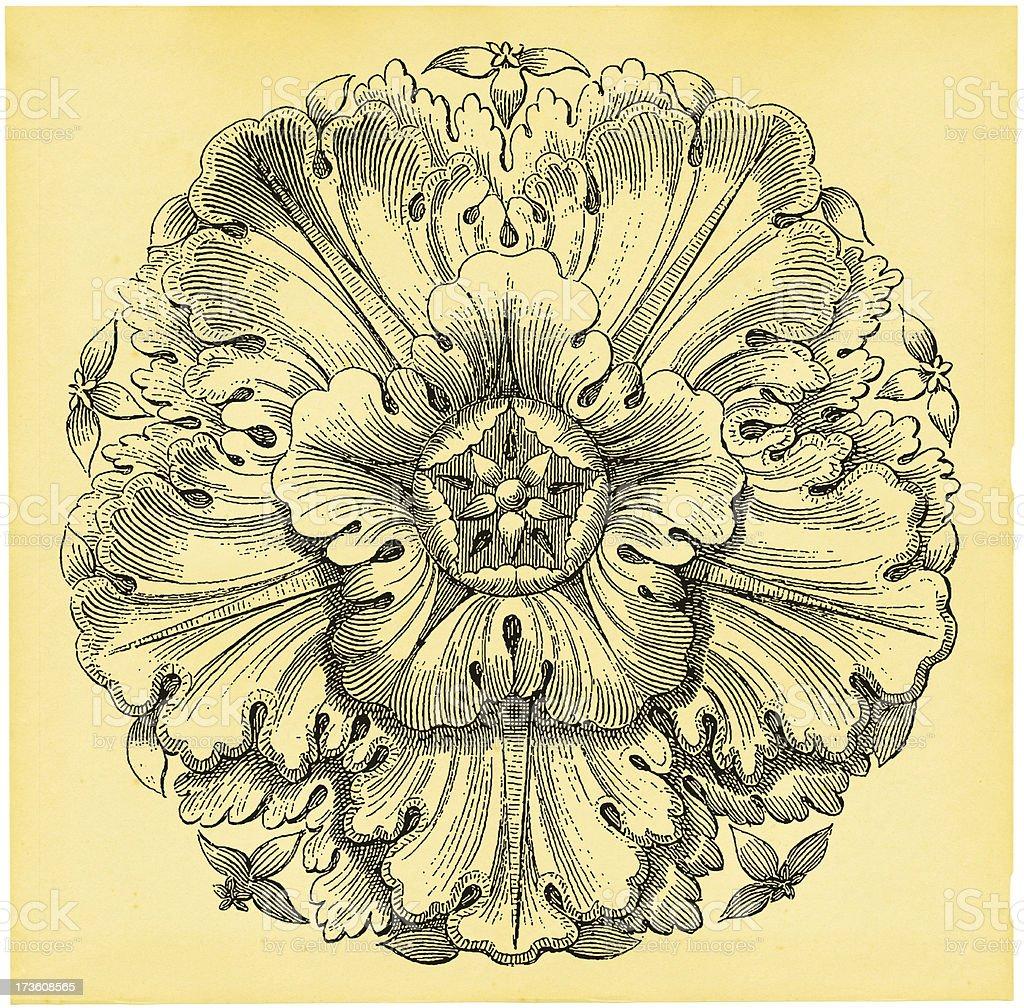 Vintage Floral Design (XXXL) royalty-free stock vector art